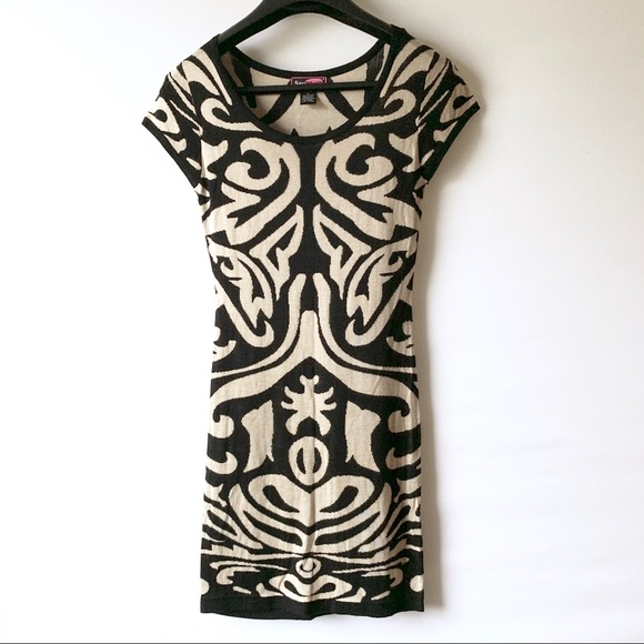 Say What? Dresses & Skirts - Say what | Tan & Black Aztec Sweater Dress (A100)